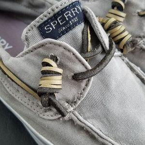 Sperry Shoes - Sperry Bahama Washed Canvas Top-Siders